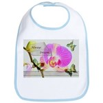 Always Dream Orchid and Butterflies Bib