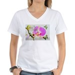 Always Dream Orchid and Butterflies Women's V-Neck