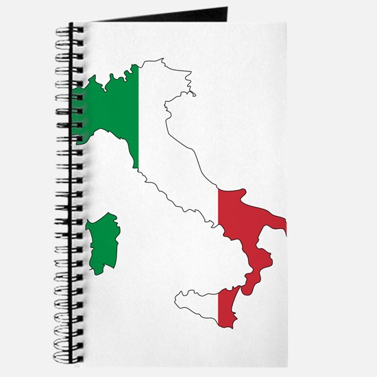 Italy Flag and Map Journal