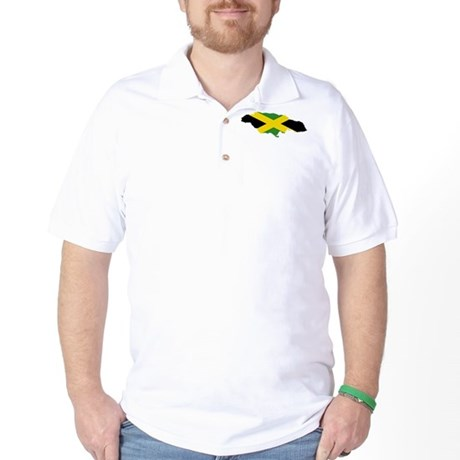 Jamaica Flag and Map Golf Shirt