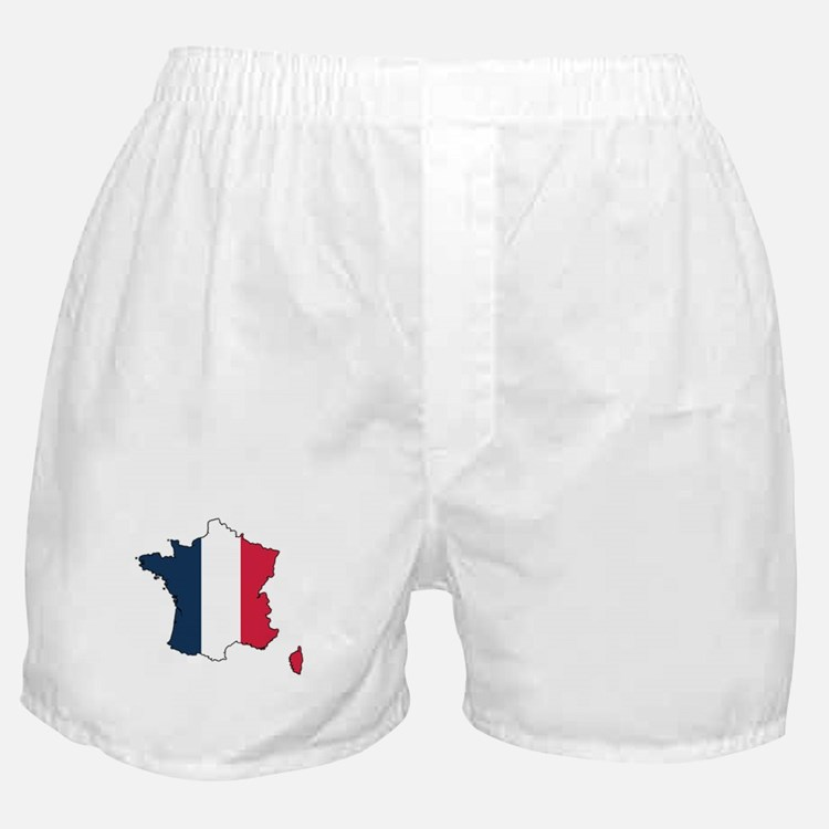 Flag Map of France Boxer Shorts