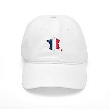 Flag Map of France Baseball Cap