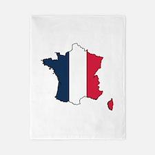 Flag Map of France Twin Duvet