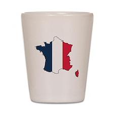 Flag Map of France Shot Glass
