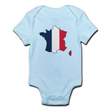 Flag Map of France Infant Bodysuit