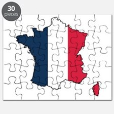 Flag Map of France Puzzle