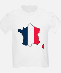 Flag Map of France T-Shirt