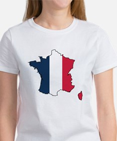 Flag Map of France Women's T-Shirt