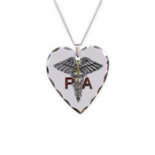 PA Medical Symbol Necklace Heart Charm