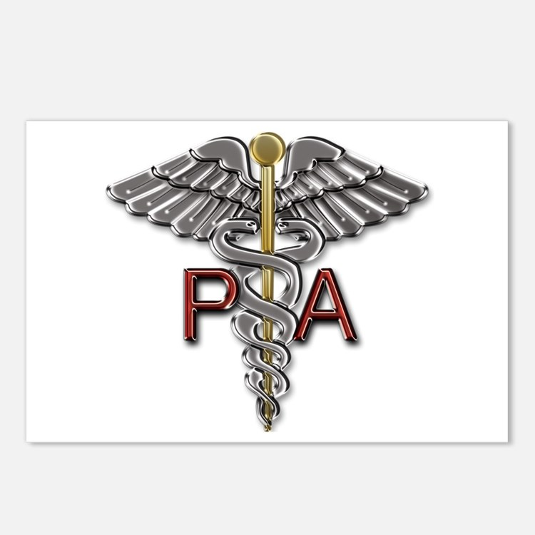 PA Medical Symbol Postcards (Package of 8)