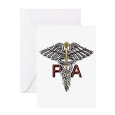 PA Medical Symbol Greeting Card