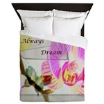 Always Dream Orchid and Butterflies Queen Duvet