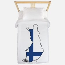 Flag Map of Finland Twin Duvet
