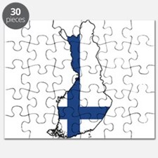 Flag Map of Finland Puzzle