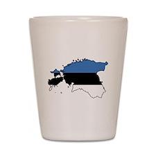 Flag Map of Estonia Shot Glass