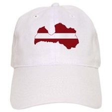 Latvia Flag and Map Cap