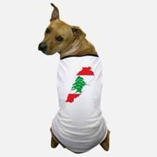 Lebanon Flag and Map Dog T-Shirt