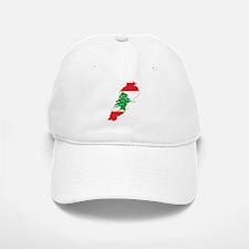 Lebanon Flag and Map Baseball Baseball Cap