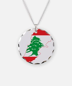 Lebanon Flag and Map Necklace