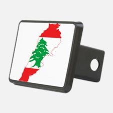 Lebanon Flag and Map Hitch Cover