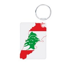 Lebanon Flag and Map Keychains