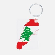 Lebanon Flag and Map Keychains