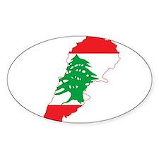 Lebanon Flag and Map Decal