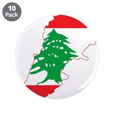 "Lebanon Flag and Map 3.5"" Button (10 pack)"