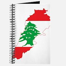 Lebanon Flag and Map Journal
