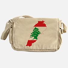 Lebanon Flag and Map Messenger Bag