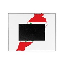 Lebanon Flag and Map Picture Frame