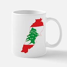 Lebanon Flag and Map Mug