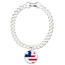Liberia Flag and Map Bracelet