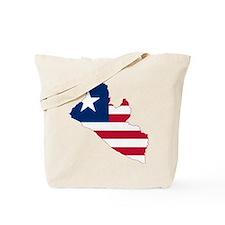 Liberia Flag and Map Tote Bag