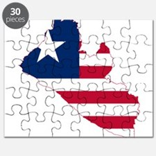 Liberia Flag and Map Puzzle