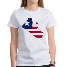 Liberia Flag and Map Tee