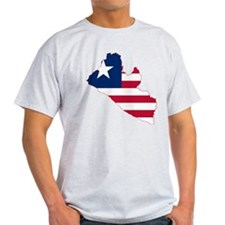 Liberia Flag and Map T-Shirt