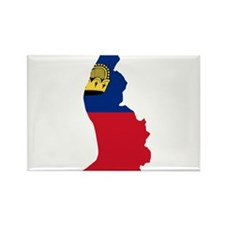 Liechtenstein Flag and Map Rectangle Magnet