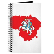 Lithuania State Ensign Flag and Map Journal