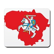 Lithuania State Ensign Flag and Map Mousepad
