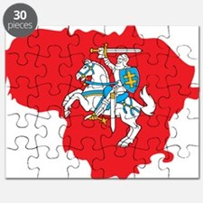 Lithuania State Ensign Flag and Map Puzzle