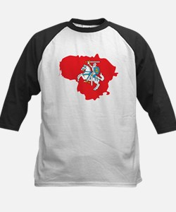 Lithuania State Ensign Flag and Map Tee