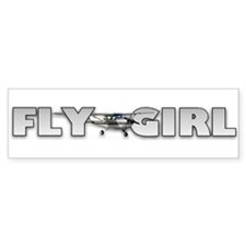 Fly Girl Aviation Bumper Bumper Sticker