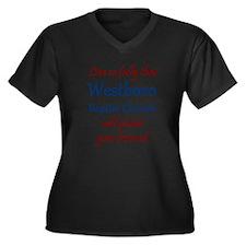 Westboro #12 Women's Plus Size V-Neck Dark T-Shirt