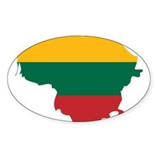 Lithuania State Ensign Flag and Map Decal