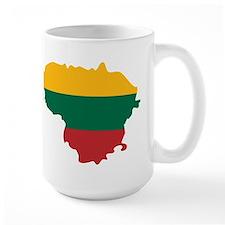 Lithuania State Ensign Flag and Map Mug