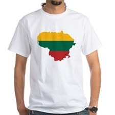 Lithuania State Ensign Flag and Map Shirt