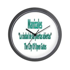 Manizales frases colombianas Wall Clock