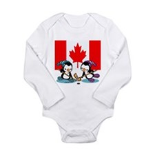 Ice Hockey (Canada) Long Sleeve Infant Bodysuit