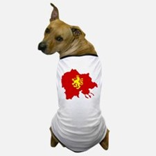 Macedonia Lion Flag and Map Dog T-Shirt